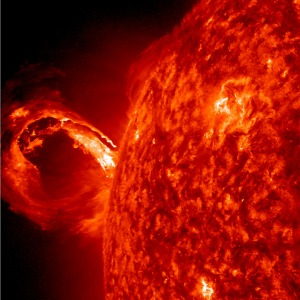 Corona mass ejection (CME), associated with a solar flare - May 1, 2013