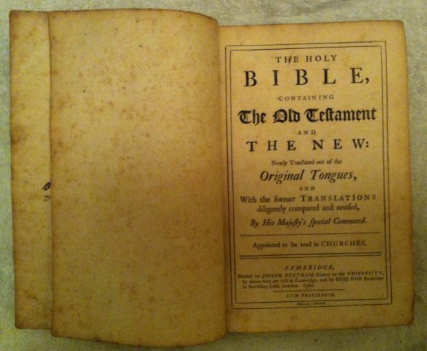 1760_cambridge_edition_king_james_bible