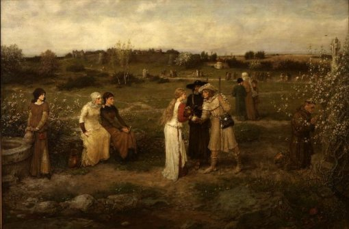 george_henry_boughton_-_godspeed_pilgrims_setting_out_for_canterbury