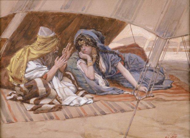 x1952-88, Abram's Counsel to Sarai, Artist: Tissot, Photographer: John Parnell, Photo © The Jewish Museum, New York
